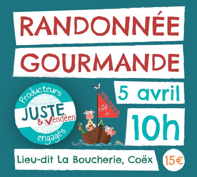 Annulé - Randonnée gourmande Juste & Vendéen