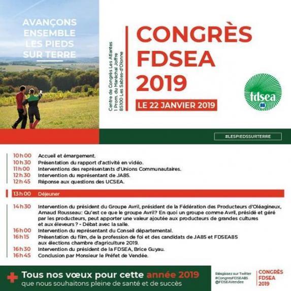 Les Sables d'Olonne – Congrès FDSEA85 le 22 janvier 2019